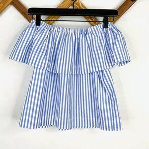 ✨ Striped Off the Shoulder Blouse | Aritzia